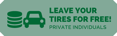 Leave your tyres for free!